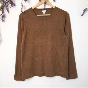 J. Crew Brown Wool Blend Sweater